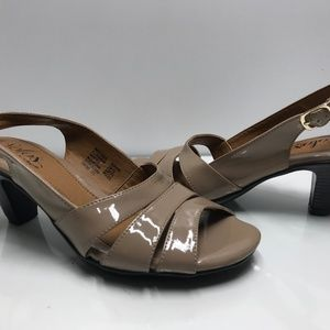 Solos by Softspots Womens Open Toe Heel Sandals